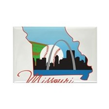 Saint Louis Missouri Rectangle Magnet