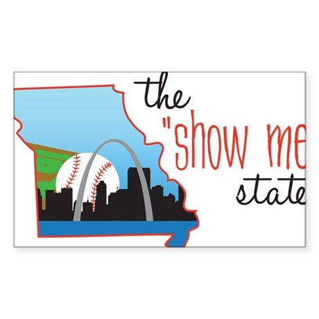 Show Me State Sticker (Rectangle)