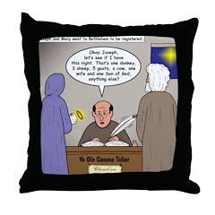 Bethlehem Census Throw Pillow
