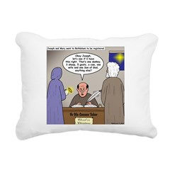 Bethlehem Census Rectangular Canvas Pillow
