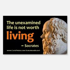 Socrates Unexamined Life Sticker (Rectangle)