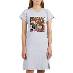 Ant Gingerbread House Women's Nightshirt