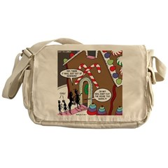 Ant Gingerbread House Messenger Bag