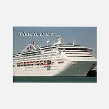 I love to cruise: cruise ship Rectangle Magnet