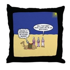 Wisemen GPS Throw Pillow