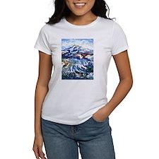 Abstract Mt Rainier Tee
