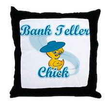 Bank Teller Chick #3 Throw Pillow