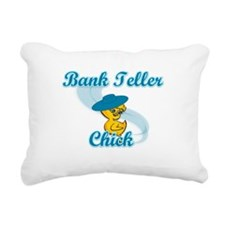 Bank Teller Chick #3 Rectangular Canvas Pillow