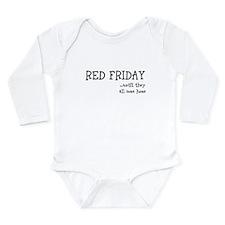 Unique Red friday Long Sleeve Infant Bodysuit