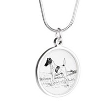 Smooth Fox Terrier Silver Round Necklace