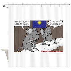 Nativity Mice Shower Curtain