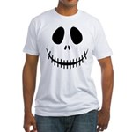 Halloween Skeleton Fitted T-Shirt