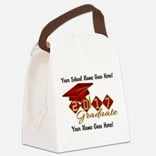 Graduate 2017 Red Gold Canvas Lunch Bag