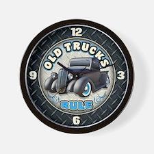 Old Trucks Rule 2 Wall Clock