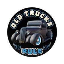 Old Trucks Rule 2 Ornament (Round)