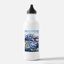 Abstract Mt Rainier Water Bottle