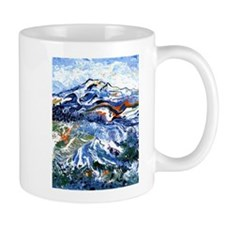 Abstract Mt Rainier Mug
