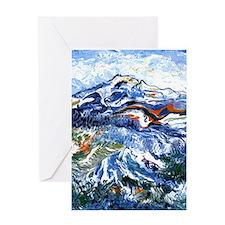 Abstract Mt Rainier Greeting Card