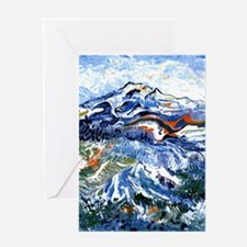 Abstract Mt Rainier Greeting Card