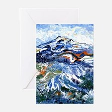 Abstract Mt Rainier Greeting Cards (Pk of 10)