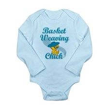 Basket Weaving Chick #3 Long Sleeve Infant Bodysui