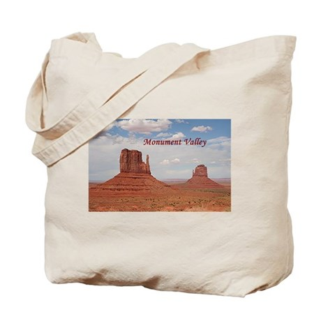 Monument Valley (caption) Tote Bag