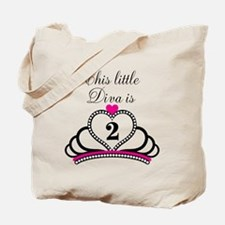 This Little Diva is 2 Tote Bag