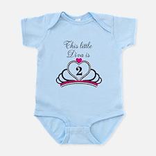 This Little Diva is 2 Infant Bodysuit