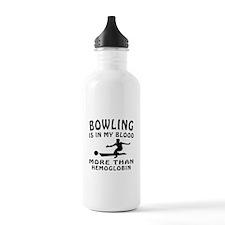 Bowling Designs Water Bottle