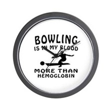 Bowling Designs Wall Clock