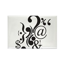 Punctuation Art Rectangle Magnet