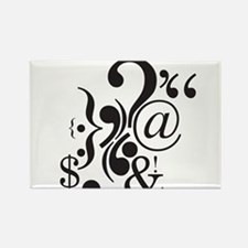 Punctuation Art Rectangle Magnet