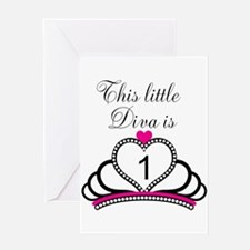 This Little Diva is 1 Greeting Card