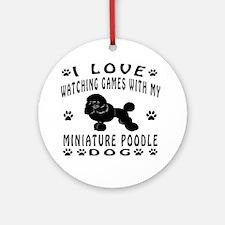 Miniature Poodle design Ornament (Round)