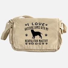 Neapolitan Mastiff design Messenger Bag