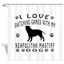 Neapolitan Mastiff design Shower Curtain