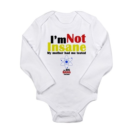 Big Bang Not Insane Long Sleeve Infant Bodysuit