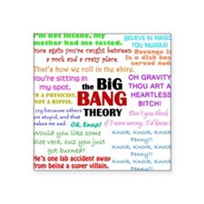 "Big Bang Theory Quotes Square Sticker 3"" x 3"""
