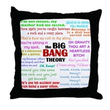 Big Bang Theory Quotes Throw Pillow