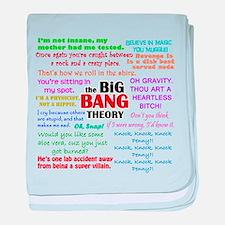 Big Bang Theory Quotes baby blanket