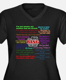 Big Bang Theory Quotes Women's Plus Size V-Neck Da