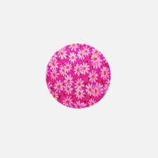 Hot Pink Daisies Mini Button