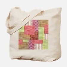Trendy Patchwork Quilt Tote Bag