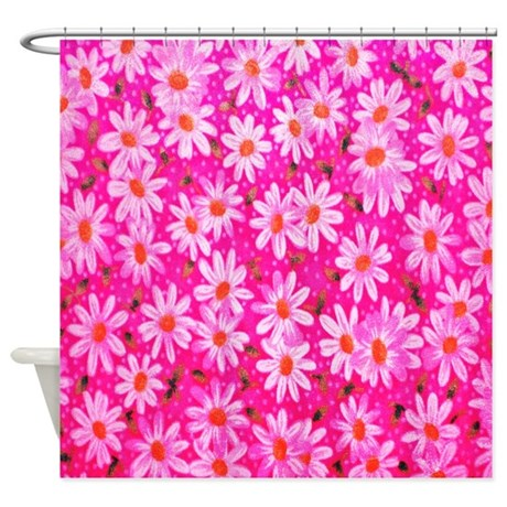 Hot Pink Daisies Shower Curtain By ALittleBitOfThis1