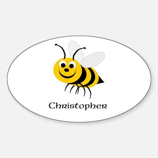 Bee Sticker (Oval)