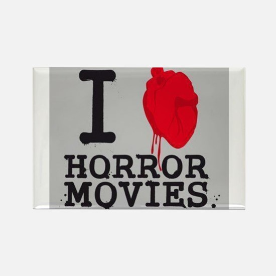 I <3 Horror Movies Rectangle Magnet