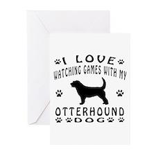 Otterhound design Greeting Cards (Pk of 20)