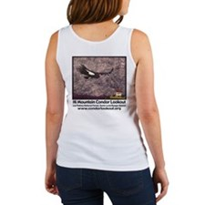 Women's White Tank- front and back images
