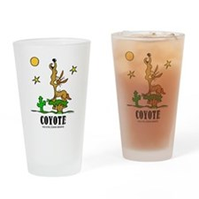 Cute Coyote Drinking Glass