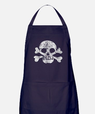 Worn Skull And Crossbones Apron (dark)